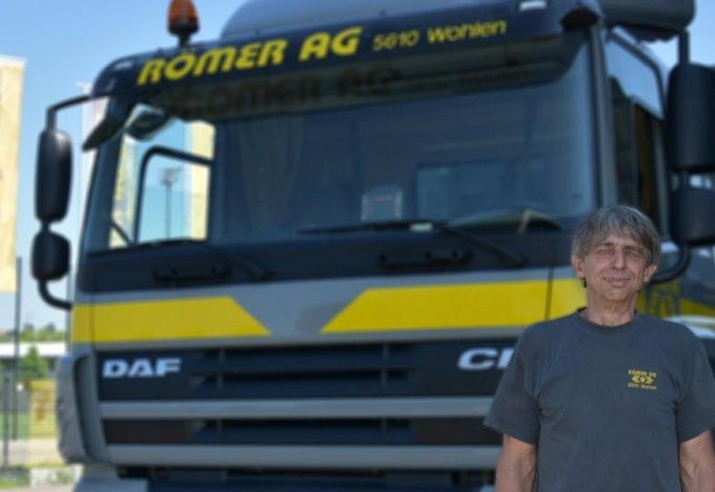 Paul Köpfli : ehemaliger LKW-Chauffeur auf 3-Achser Hakengerät